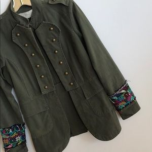 Jen's Pirate Booty Jackets & Coats - chic embroidered sleeve military inspired jacket